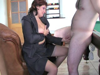 Small cock Stockings Russian Handjob Cock Milf Stockings Russian Milf