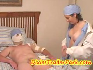 slutty medical bigtits nurse fucked the patient and got busted