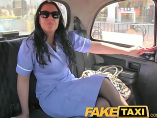 Nurse Brunette Car Big Cock Milf