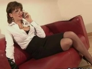 MILF Secretary Stockings British Milf Milf Ass Milf British