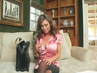 crissy moran enjoys in nylons a garter and shoes