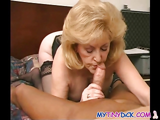 concupiscent granny receives covered in jizz
