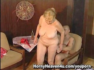 65 year old granny loves younger cocks!