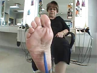 mature babe foot