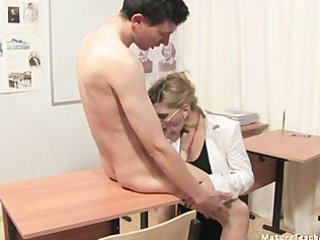 Russian School Teacher Blowjob Mature Glasses Mature Mature Ass