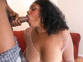 chubby darksome doxy has large boobs and a large ass for his large black weenie