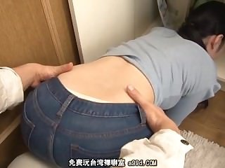 Jeans  Asian Japanese Milf Jeans Ass
