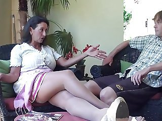 Mom Brunette MILF Mom Son Old And Young Son