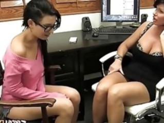 Mom Office Old And Young Daughter Daughter Mom Lesbian Old Young