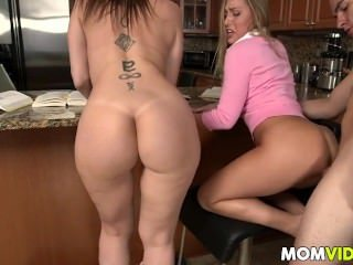 Family Threesome Amazing Ass Big Cock Ass Big Tits Big Cock Milf