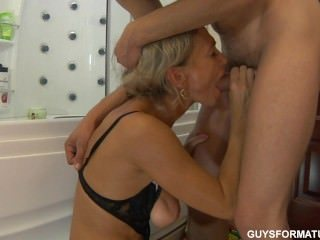 mom;mother;blonde;cougar;shower;mature;milf;blowjob;handjob;dutch;ninette;roleplay;big-tits;real-tits;pussy-licking;doggy-style
