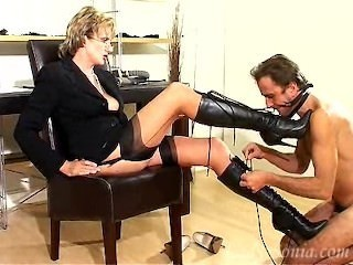 Legs Latex Femdom Boobs Domination Glasses Mature
