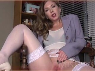 Masturbating  Shaved Milf Stockings Stockings