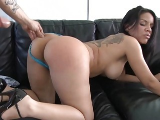 lusty and naughty latino woman gives deep warm cock sucking