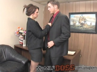 favorable stud nailing his mature babe boss