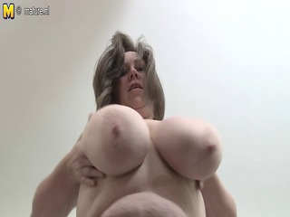 british housewife likes pleasing with her big tits