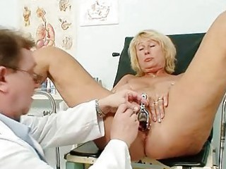 extremely impressive slutty granny breast and pussy gyno checkup