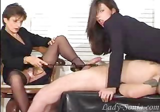 fetish ladies playing with a rod
