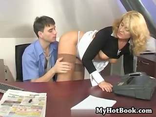 Mom Office Secretary Boss Milf Office Milf Stockings