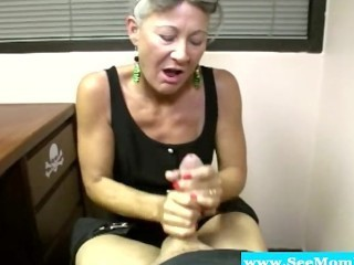 old;mom;mother;blowjob;bj;cocksucking;dicksucking;handjob;mature;milf;mama;mommy;fellatio;glasses;granny