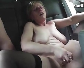 Car  Masturbating Czech Dildo Milf Masturbating Amateur