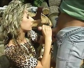 Farm Clothed Handjob MILF Outdoor Outdoor Farm Huge Ejaculation