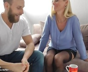 Blonde European  Blonde Mom European Old And Young