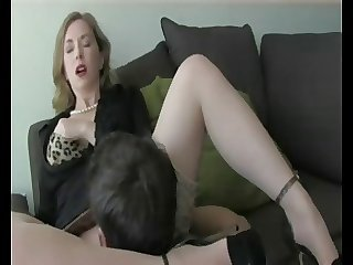 Amazing Clothed Cute Dirty Milf Stockings Stepmom