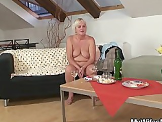 drunk fuckfest with sexually excited granny and her son in law