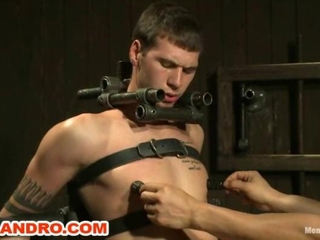 Video from: hardsextube | 9 inch Cock Edged in Metal Bondage