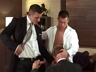 Video from: xhamster | Threesome in the office