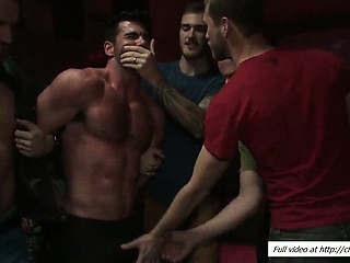 Forced Muscled Gangbang