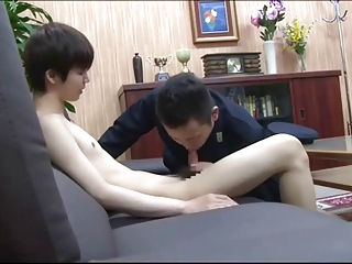 Asian Uniform Blowjob