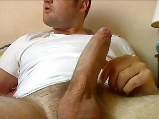 Mix of   big cumshot on my uncut cock