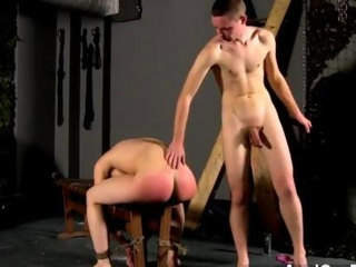 Young Male model gets his ass paddled