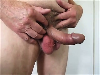 Hot Mature Man Jerking Cock