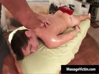 Dirty young gay guy gets a massage part1
