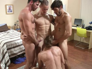 Orgy Muscled Blowjob