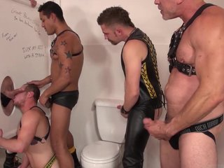 Bathroom Orgy Big Cock