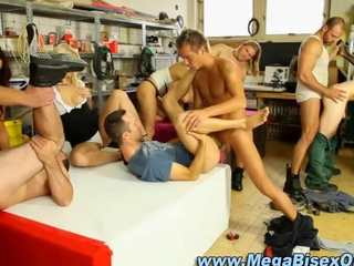Bisexual group orgy gets hardcore