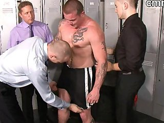 Muscled Mature Gangbang