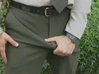 Masturbating Outdoor Uniform