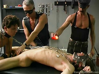 Naked college guy in bdsm scene