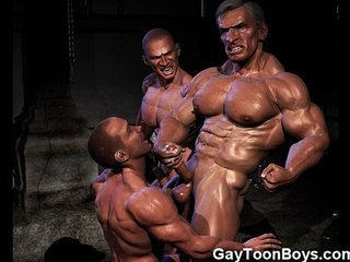 Video from: redtube | Muscled 3D Gays with Big Cocks!