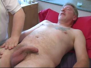 Old And Young Mature Massage