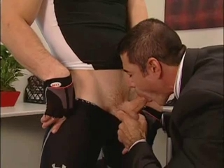 Blowjob Muscled Office
