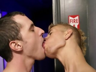 Twink behind the glory hole - Factory Video
