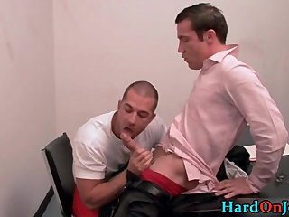 Office Big Cock Blowjob
