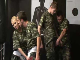 Army Bisex Orgy