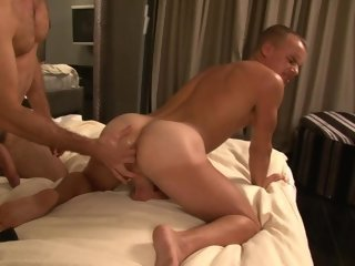 Gaping and fucking a tight asshole in a hotel room